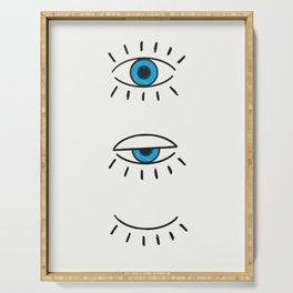 Summer Evil Eyes Serving Tray