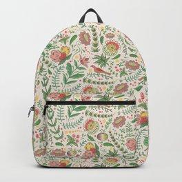 Swedish Floral - Cream Backpack