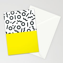 Memphis pattern 46 Stationery Cards