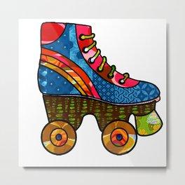 Retro Roller Skate Metal Print