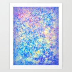 Watercolor Paisley Art Print