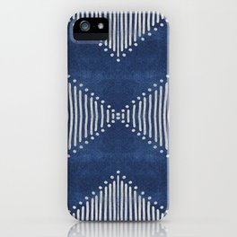 Indigo Deco Chev iPhone Case
