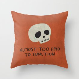 Almost Too Emo To Function (ORANGE) Throw Pillow