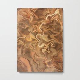 Cappuccino Swirl Metal Print