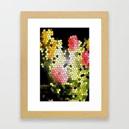 Flower Puzzle Framed Art Print