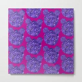Lilac bears Metal Print