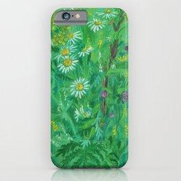 July Wildflowers, Meadow Flowers, Summer Floral, Pastel Painting iPhone Case