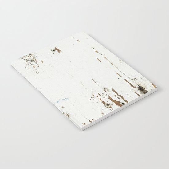 Vintage White Wood Notebook