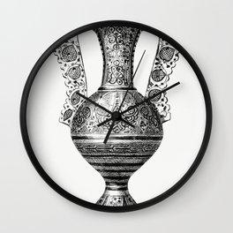 Hispano-Moorish Vase (1862) from Gazette Des Beaux-Arts a French art review Wall Clock