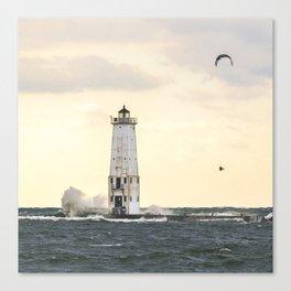 Winter Windsurf | Frankfort, Michigan | John Hill Photography Canvas Print