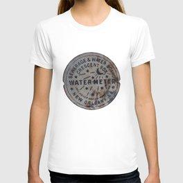 Street Water Meter - New Orleans LA T-shirt