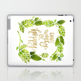 Don't worry be hoppy (green and gold palette) Laptop & iPad Skin