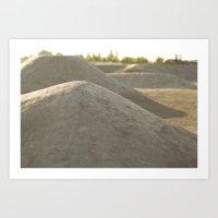 Dirt Shapes  Art Print