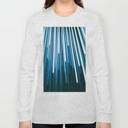 Hyperspace Fiber Optics Blue white Streaks Of Light Long Sleeve T-shirt