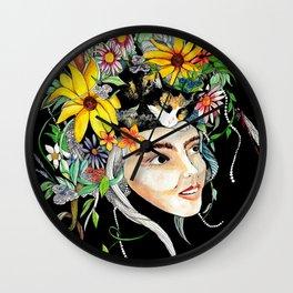 Flowercrown Wall Clock