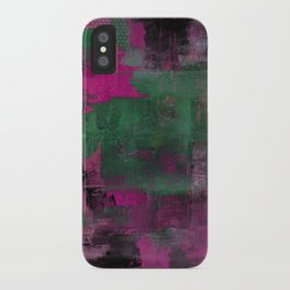 Deep Purple - Abstract, textured painting iPhone Case