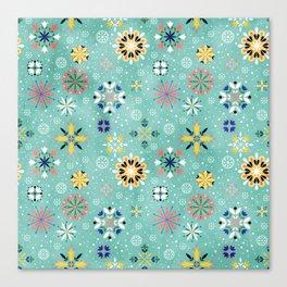 Christmas snowflakes pattern Canvas Print