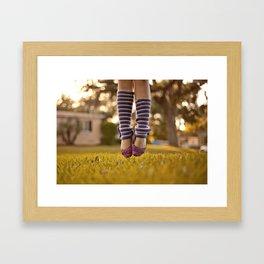 Ballet Jump Framed Art Print