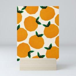 Abstraction_Orange_Fruit Mini Art Print