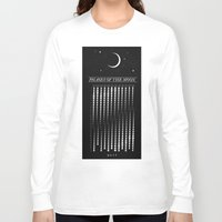 calendar Long Sleeve T-shirts featuring 2015 Moon Calendar by Nick Wiinikka