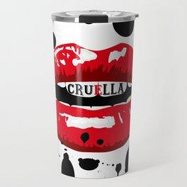 Cruella Villain Spots Red Lips Travel Mug