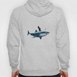 Famingo Riding Shark Hoody