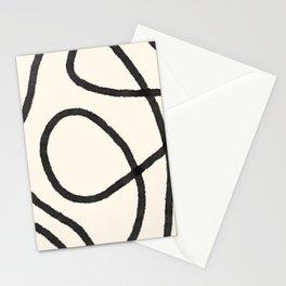 Thick Continuous Line Series 6   Boho Home Decor, Modern Wall Art, Continuous Line Art, Contour Line Stationery Cards