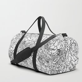 SPRING IN BLACK AND WHITE Duffle Bag