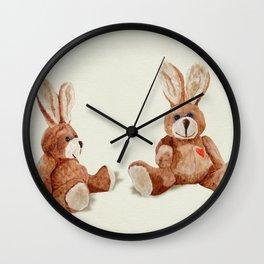 Cuddly Care Rabbit II Wall Clock