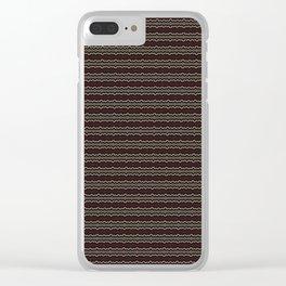 Wine Bronze Stripe Pattern Clear iPhone Case