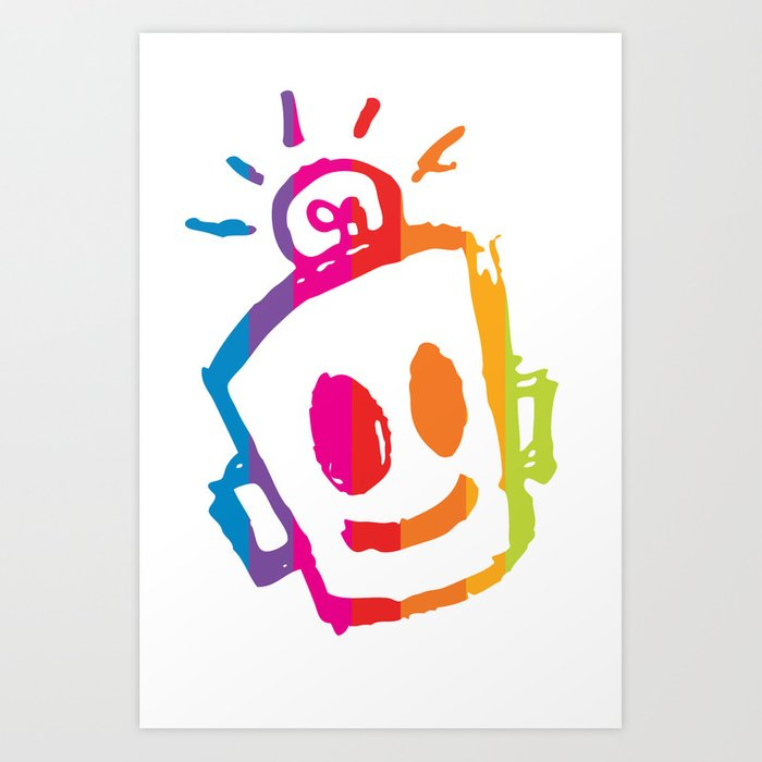 ROBOT stripes Art Print