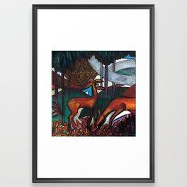Deco Deer Framed Art Print