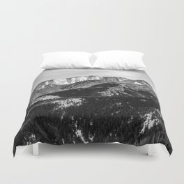 Black and White Mountains Duvet Cover