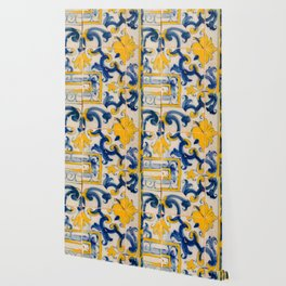 Portuguese azulejos, city of Ericeira Wallpaper