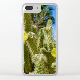 Cactus Flowers Clear iPhone Case