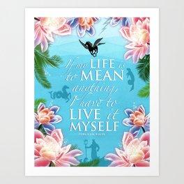 PJO Live it myself Art Print