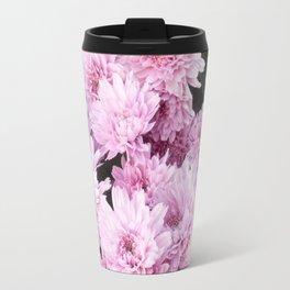 A Sea of Light Pink Chrysanthemums #1 #floral #art #Society6 Travel Mug