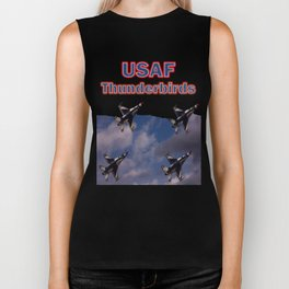 USAF Thunderbirds In Diamond Formation Biker Tank