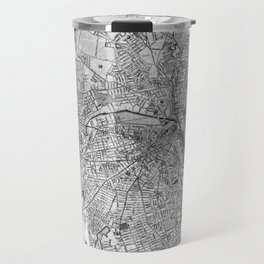 Vintage Map of Providence Rhode Island (1899) BW Travel Mug