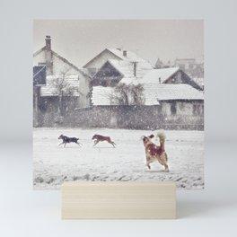 Winter Wonderland...for dogs too Mini Art Print