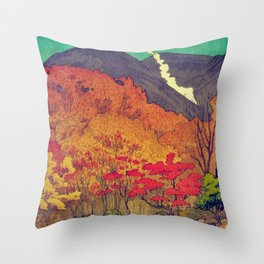 Autumn Baths in Kaanaii Throw Pillow