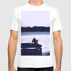 Fisherman MEDIUM White Mens Fitted Tee