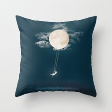 Swing Among The Stars Throw Pillow
