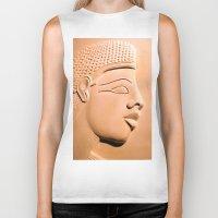 egyptian Biker Tanks featuring Egyptian Beauty by Brian Raggatt