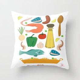 Paella Throw Pillow