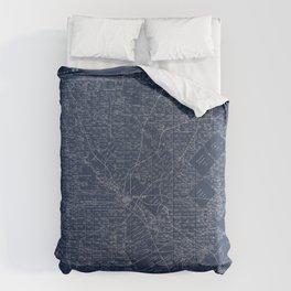 Map Of Dallas 1884 Comforters