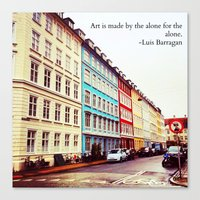 denmark Canvas Prints featuring Copenhagen Denmark by ©valourine
