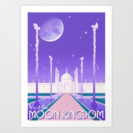 Visit the Moon Kingdom / Sailor Moon Art Print