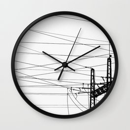 Electricity Plant Wall Clock