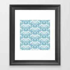 Blue Hearts Framed Art Print